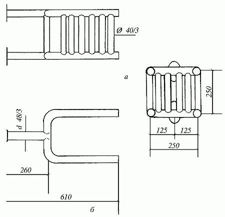 схема котла-змеевика для кухонной плиты