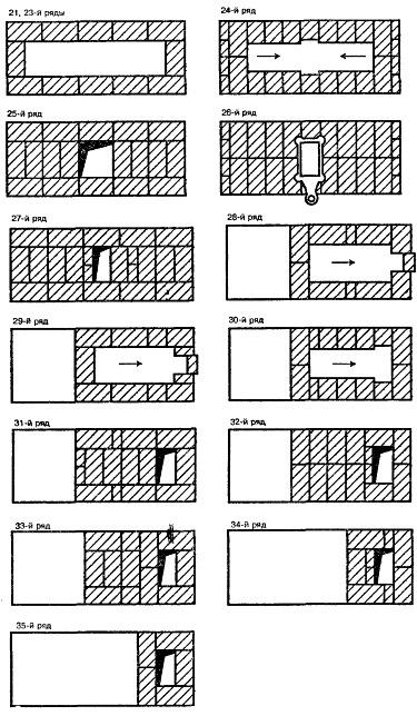 камины кладка порядовка проект схема кирпич - Всемирная схемотехника.