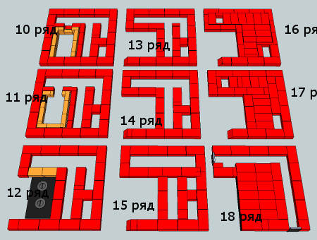 Схема-чертеж 10-19 рядов двухколпаковой Шведки