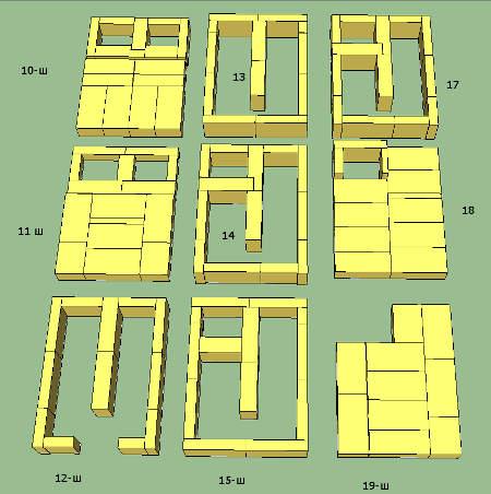 10-18 ряды шамотной кладки
