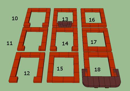 10-18 ряды порядовки печи 3,5,х3,5