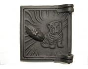 Дверца поддувальная с тигром