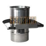 Шибер-задвижка ∅ 115 поворотный (нерж.0,8 мм ) FERRUM