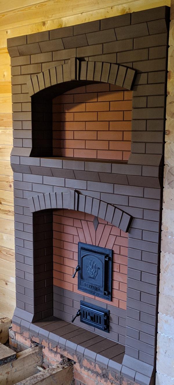 Банная печь с порталом