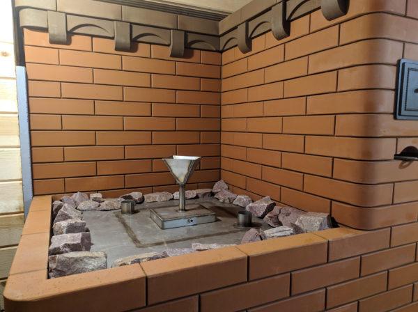 Бак 90 литров для камней в банной печи